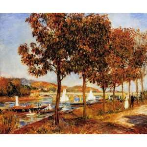 Oil Painting The Bridge at Argenteuil in Autumn Pierre