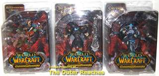 WORLD of WARCRAFT DC SERIES 8 3 ACTION FIGURE SET Dhalia BLACK KNIGHT