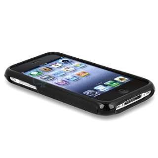 Gel Rubber Soft Cover Case+Screen Protector for iPhone 3 G 3GS