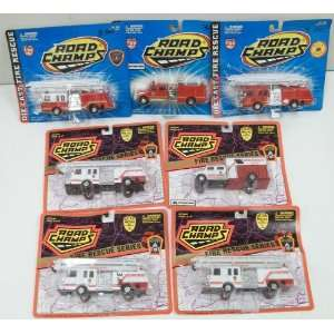 Road Champs Die Cast Fire Rescue Trucks (7) MT/Box Toys