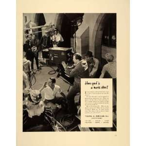 Movie Studio Cameraman Actors   Original Print Ad: Home & Kitchen