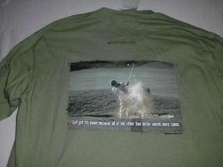 THE MOUNTAIN Golf Long Sleeve Green Tee Shirt M NWT