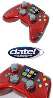 NEW RED DATEL WILDFIRE EVO WIRELESS CONTROLLER FOR XBOX 360 WITH LCD