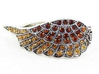 Swarovski Crystal Topaz Angel Wing Bangle Bracelet