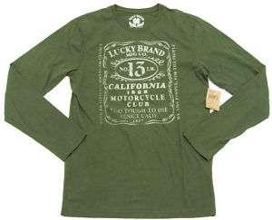 Lucky Brand Mens No. 13 Motorcycle Club Tee Shirt NWT