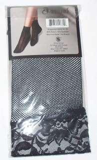 Womens Ladies Black Lace Nylon Ankle Socks Size 9 11