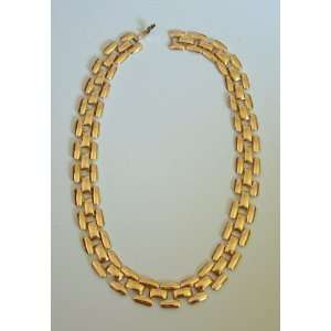 Vintage Large Link Gold Tone Necklace