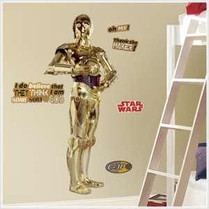 C3PO BiG Wall Stickers MuRaL C 3PO BiG Vinyl Room Decor Decals CLASSIC