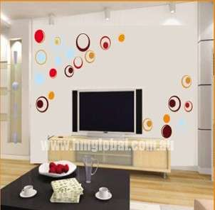 MODERN CIRCLES Wall Art Decal for your home, kids room, business DIY