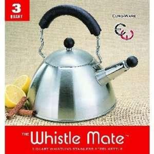 New   3 Quart Whistling Stainless Steel Tea Kettle Case