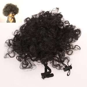 Short Curl Afro Style Pet Cat Dog Wig   Black Toys