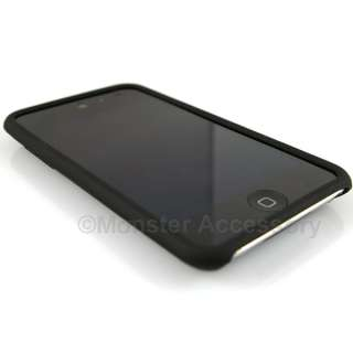 Black Soft Skin Gel Case Cover Apple iPod Touch 4 4th