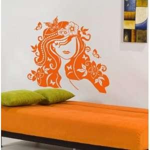 Flower Girl Mural Wall Decor Art Vinyl Decal Sticker 50
