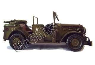 Metal Art Bar Decor 116 WWII Dodge Willys Jeep WC57 Car Model