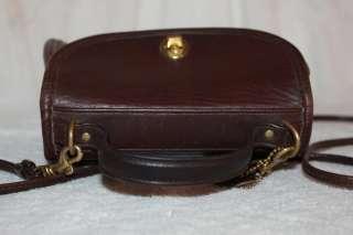Vintage COACH Willis Brown LEATHER Shoulder Hand Bag