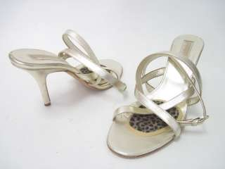 MICHAEL KORS Gold Strappy Sandals Pumps Shoes Sz 11.5