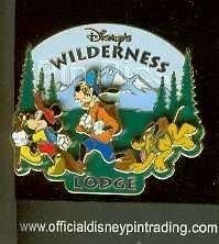 MICKEY GOOFY PLUTO Hiking WILDERNESS LODGE DISNEY PIN
