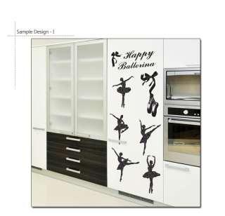 HAPPY BALLERINAS   Home Decor Wall Sticker Vinyl Decal