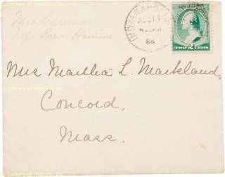 CAROLINE SCOTT HARRISON   AUTOGRAPH LETTER SIGNED 08/18/1886