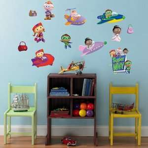 SUPER WHY 18 BiG Wall Stickers PBS KIDS Room Decor Decals PRINCESS