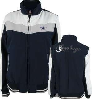 Dallas Cowboys Womens Navy Sequin Applique Soft Shell Jacket