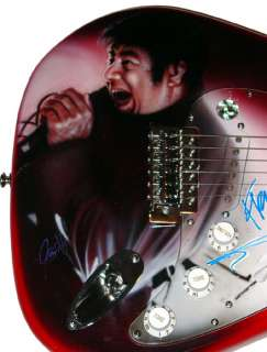 Deftones Autographed Signed Airbrush Guitar & Proof PSA DNA UACC RD