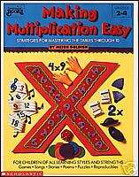 MAKING MULTIPLICATION EASY Times Tables Math Gr 2 4 NEW 9780590491402