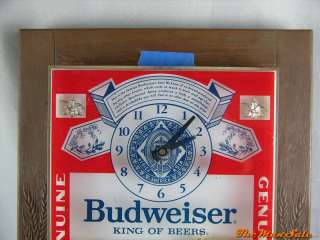 Classic Budweiser Lighted Beer Clock Sign Display Clydesdale Horses No
