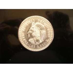 1948cuauhtemoc Cinco Pesos 30 Grams Ley 0.900 Silver Coin