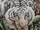 New White Tiger Fabric Wall Panel Animal Wildlife
