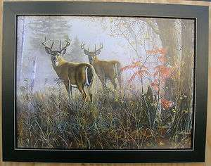 Jim Hansel Big Bucks Deer Pictures Framed Country Picture Print