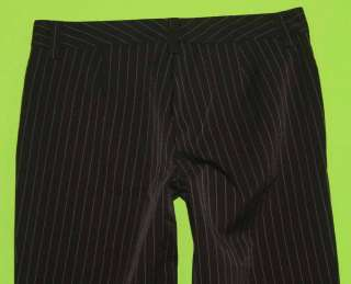 sz 7 Juniors Womens Black White Pinstriped Dress Pants 5B88
