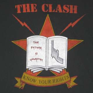 1982 THE CLASH ORIGINAL VINTAGE T SHIRT tour concert S