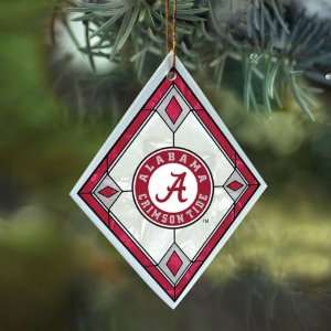 Alabama Crimson Tide Art Glass Ornament