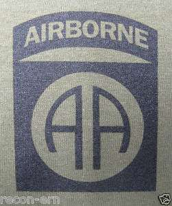 82ND AIRBORNE T SHIRT/ FRONT PRINT ONLY