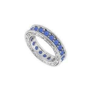 and Diamond Wedding Band  14K White Gold   1.50 CT TGW   Ring Size