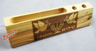 OLIVE WOOD PEN HOLDER FROM ISRAEL Holy Land Gift Shalom