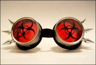 Biohazard Cyber Goth Goggles Rave Industrial EBM Pants