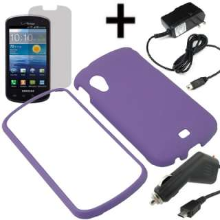 Case For Verizon Samsung Stratosphere + LCD Car Travel Charger