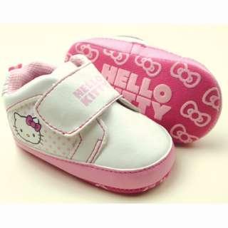 Baby Girls White Pink Kitty Walking Shoes 6 12m 931