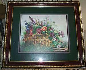 Vintage BETTIE FELDER Print GODS GRACE Wood PICTURE Frame WALL Art