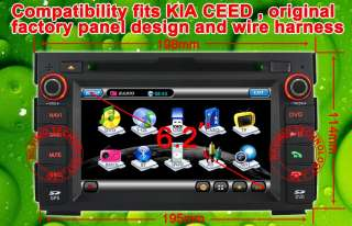 KIA Ceed Car DVD GPS navigation Radio Pip 2 Din Car Ipod Bt navi CE6.0
