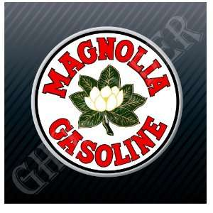Magnolia Gasoline Gas Fuel Pump Station Vintage Sign