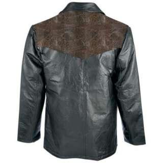 Western Style Rock Design Genuine Leather Sport Jacket