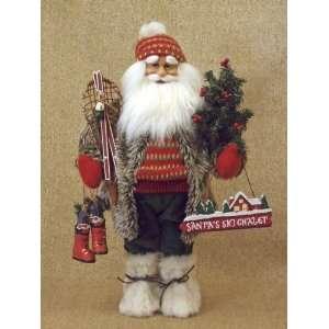 Karen Didion Originals Ski Santa Claus Doll 16