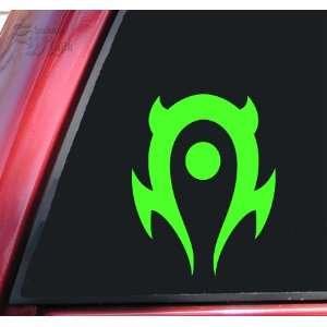 World of Warcraft Horde Vinyl Decal Sticker   Lime Green
