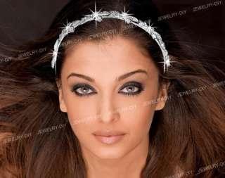 Bridal Flower Crystal Silver Plated Hair Tiara Headband HOT