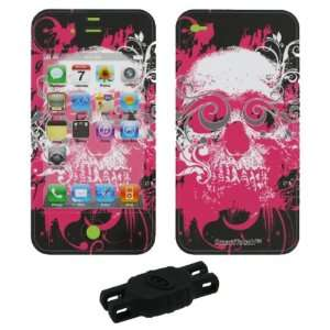 Skull Smart Touch Shield Decal Sticker and Wallpaper for Apple iPhone