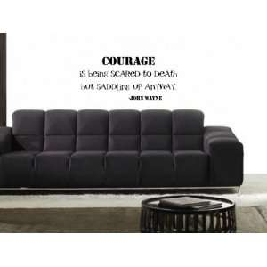 Is Being Scared To Death John Wayne Vinyl Wall Decal