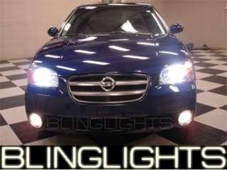 2001 2003 Nissan Maxima White Halo Xenon Fog Lamps 2002